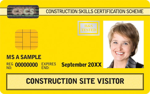 Construction Site Visitor Card