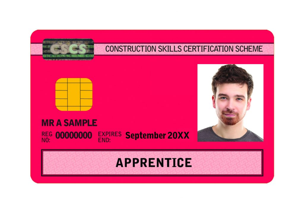 Construction Training Apprentice Card