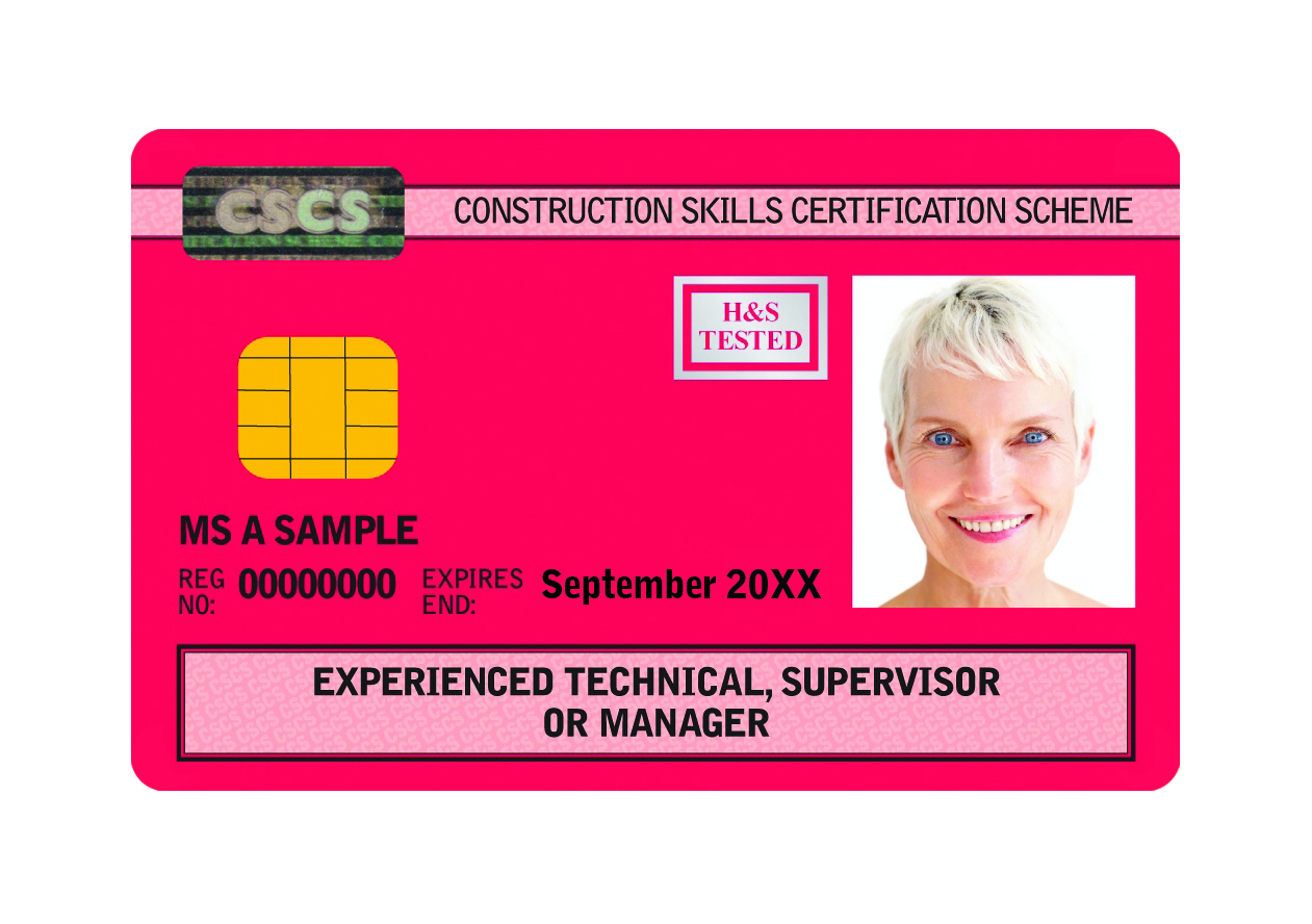 Experienced Manager CSCS Card
