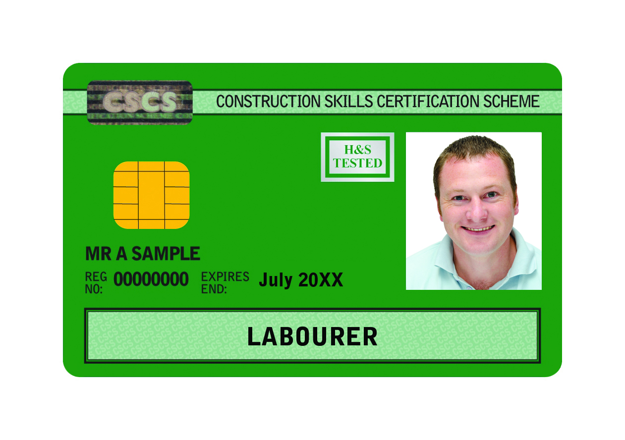 Construction Site Operative Card