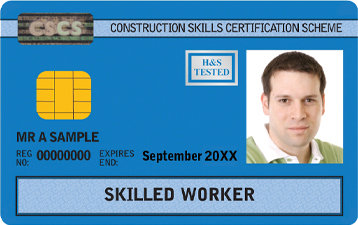 Skilled Worker Blue CSCS Card