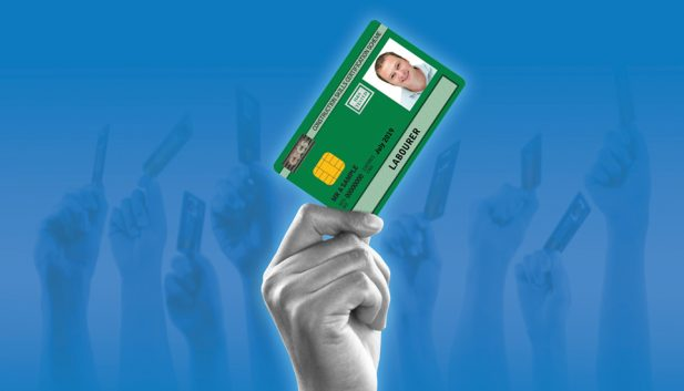 Slideshow green card