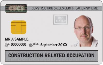 Construction Related Occupation Card